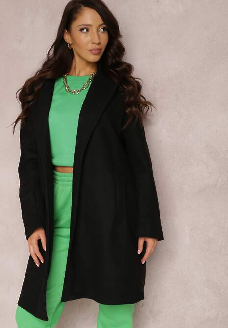 Czarny Płaszcz Savoe