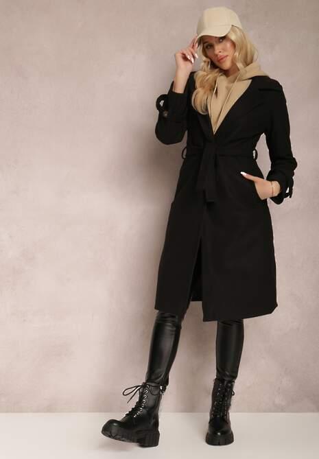 Czarny Płaszcz Dhylalis