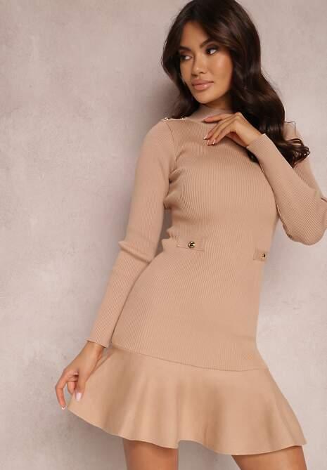 Beżowa Sukienka Neliene