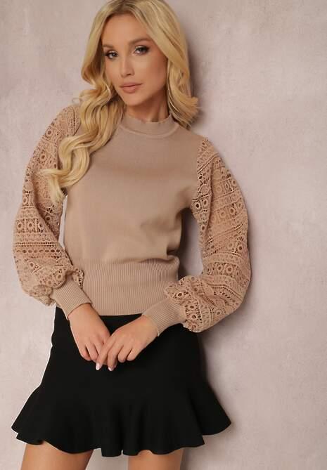 Beżowy Sweter Yesera