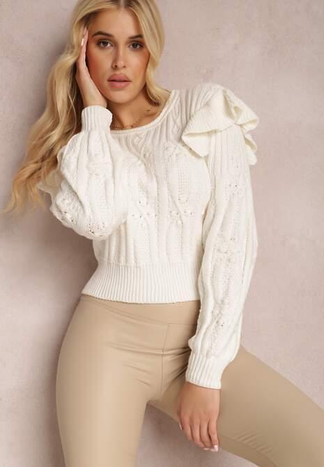 Biały Sweter Zeralin