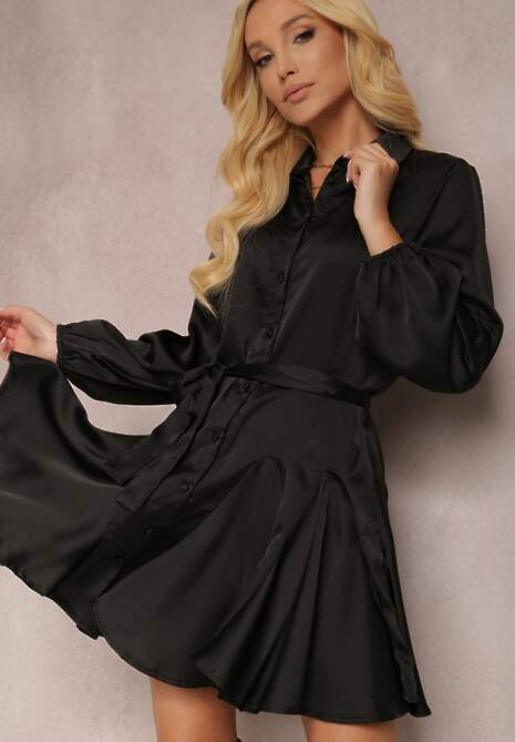 Czarna Sukienka Derie