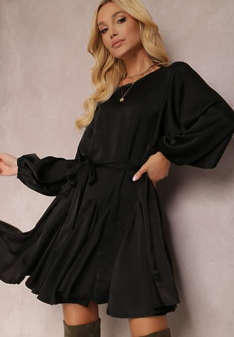 Czarna Sukienka Godynore