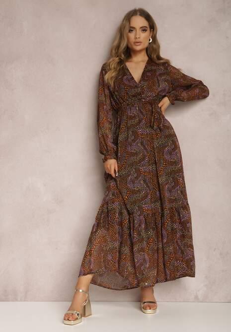 Brązowa Sukienka Belylis