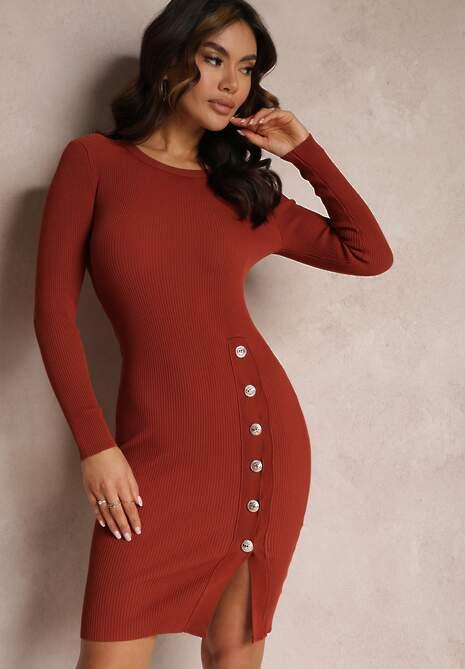 Czerwona Sukienka Hemynea