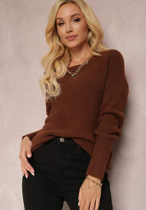 Brązowy Sweter Lyna