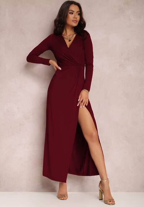 Bordowa Sukienka Agathelle