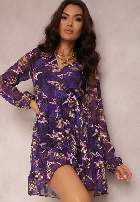 Fioletowa Sukienka Dhonya