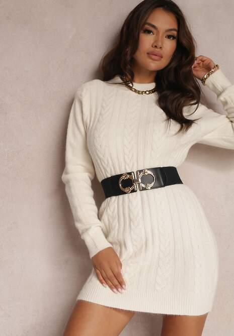 Kremowy Sweter Zeriene