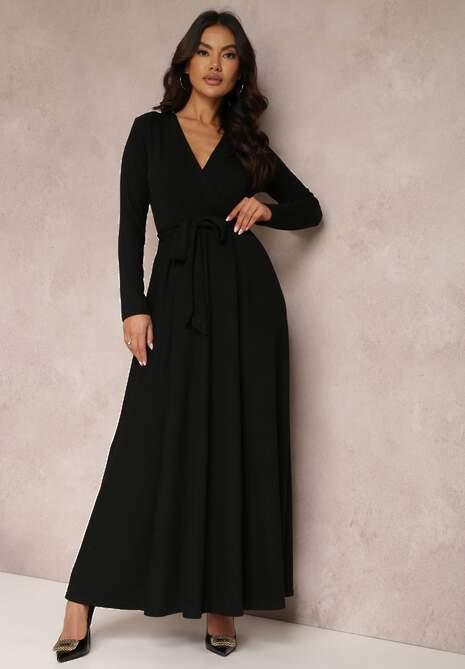 Czarna Sukienka Achina