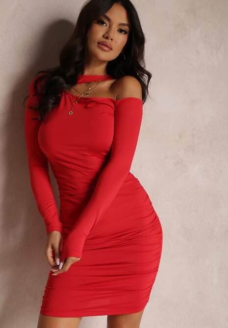 Czerwona Sukienka Eunassa