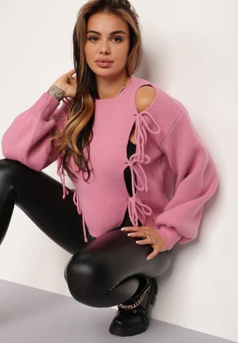 Ciemnoróżowy Sweter Beryne