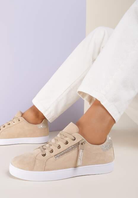 Beżowe Sneakersy Xisvienne