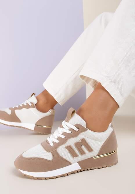 Biało-Beżowe Sneakersy Orsea