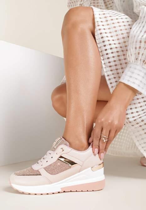 Różowe Sneakersy Naubel