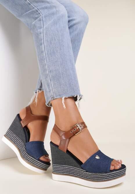 Niebieskie Sandały Nesophia