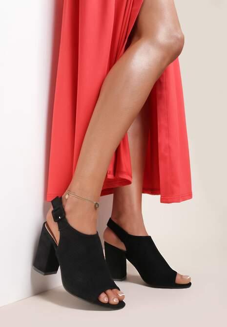 Czarne Sandały Syrolphi