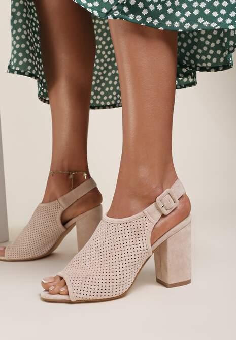Beżowe Sandały Syrolphi