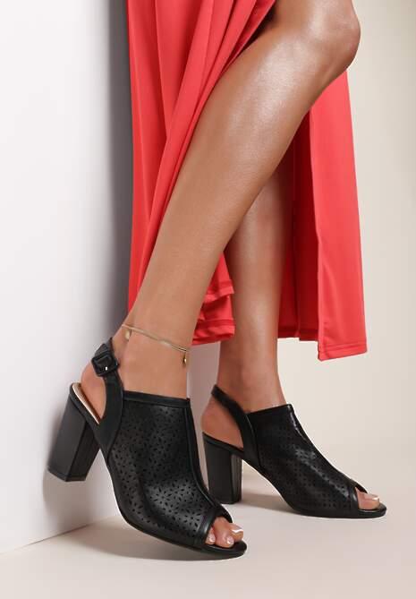 Czarne Sandały Paphypso