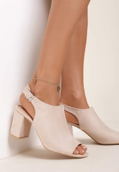 Beżowe Sandały Chalessei