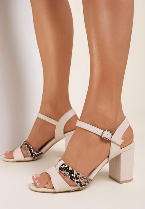 Beżowe Sandały Asheithe