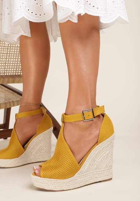 Żółte Sandały Acsisa