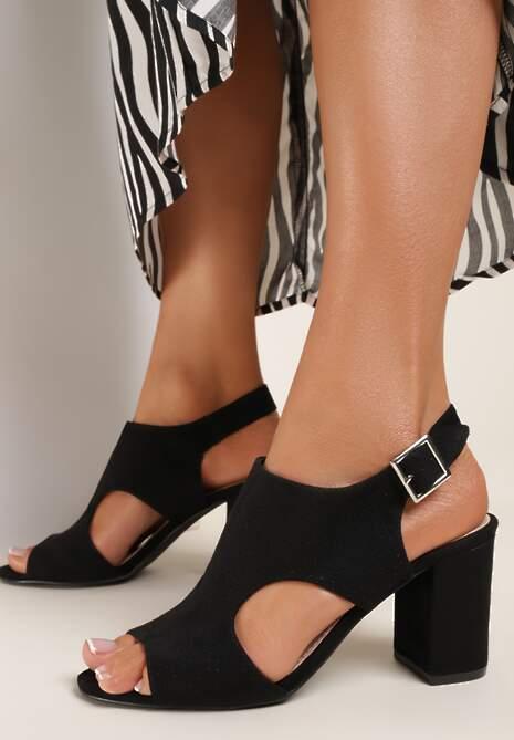 Czarne Sandały Selalise