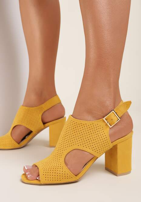 Żółte Sandały Selalise