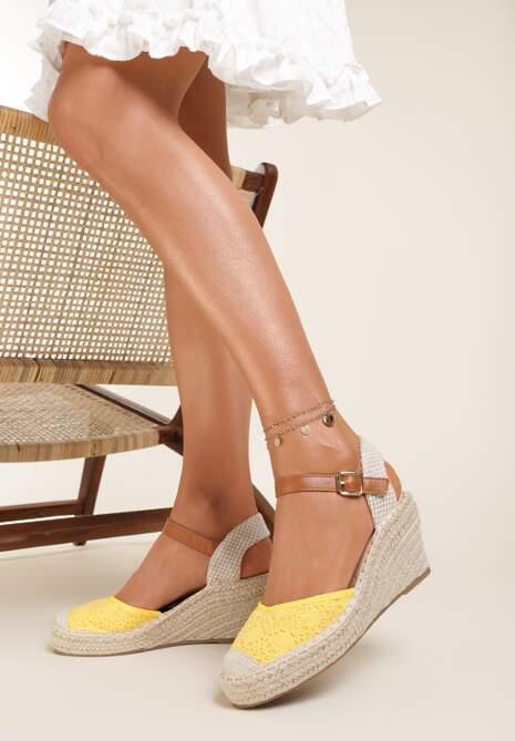 Żółte Sandały Grullyx
