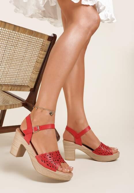 Czerwone Sandały Ophiedice