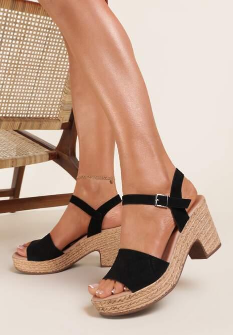 Czarne Sandały Fyrlyss