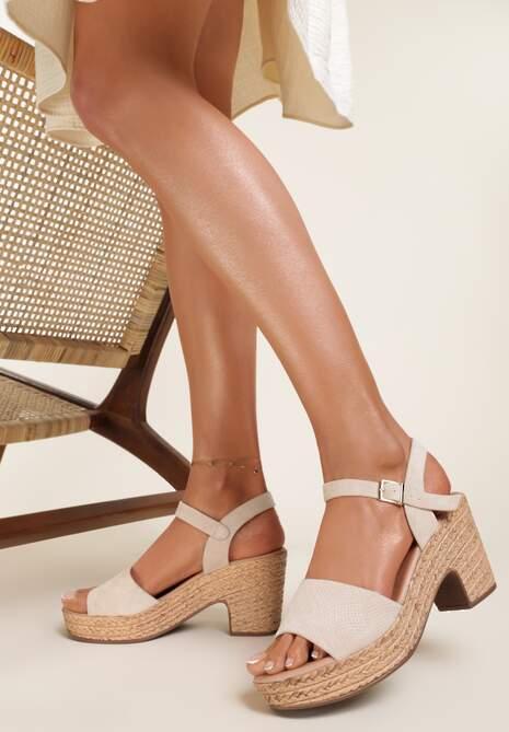 Beżowe Sandały Fyrlyss