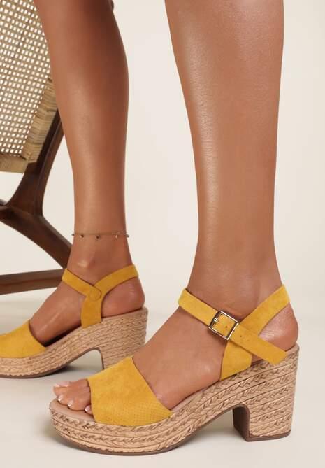 Żółte Sandały Fyrlyss