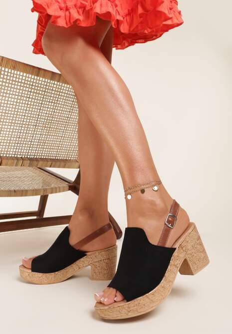 Czarne Sandały Typhatos