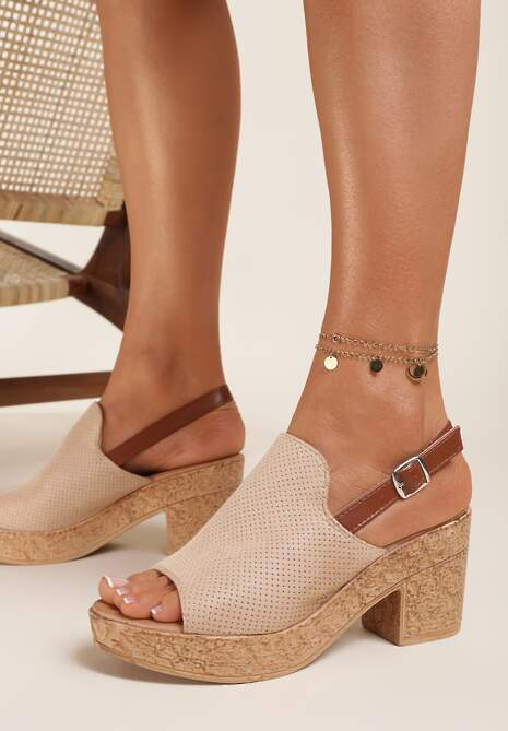 Beżowe Sandały Typhatos