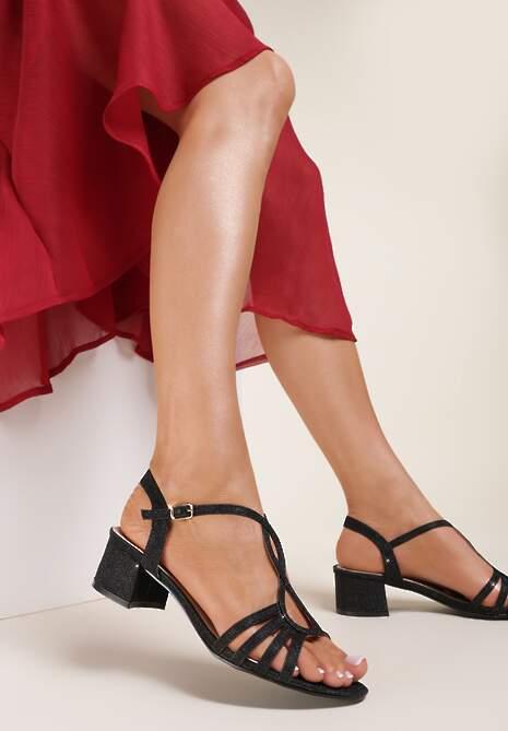 Czarne Sandały Sthosaildy