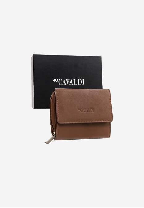Brązowy Skórzany Portfel Cavaldi Demare
