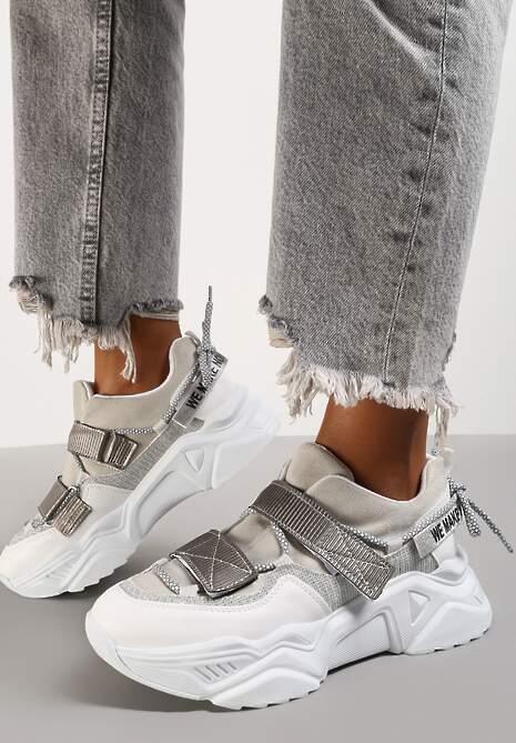 Szaro-Białe Sneakersy Adeis