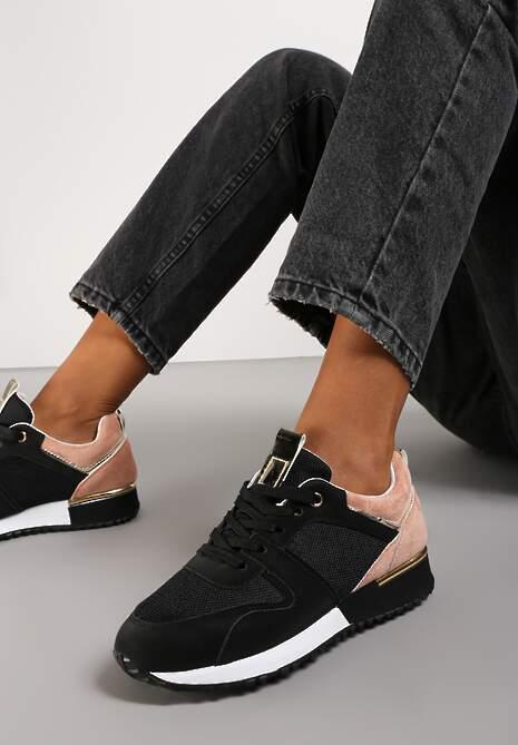 Czarno-Różowe Buty Sportowe Eupheda