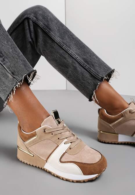 Beżowe Buty Sportowe Eupheda