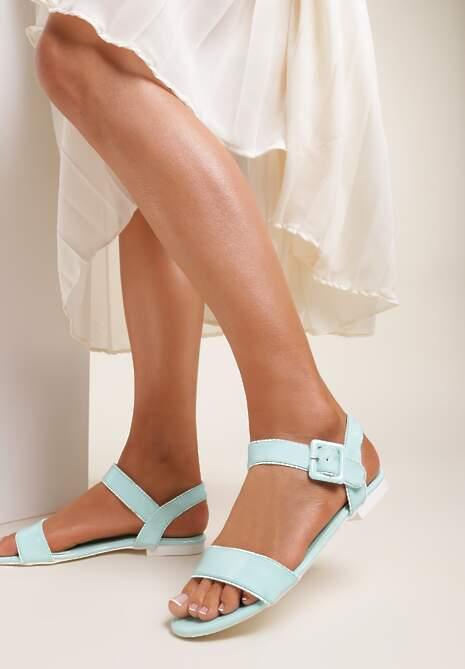 Miętowe Sandały Amyleora