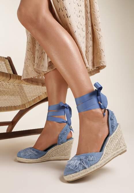 Granatowe Sandały Attractive
