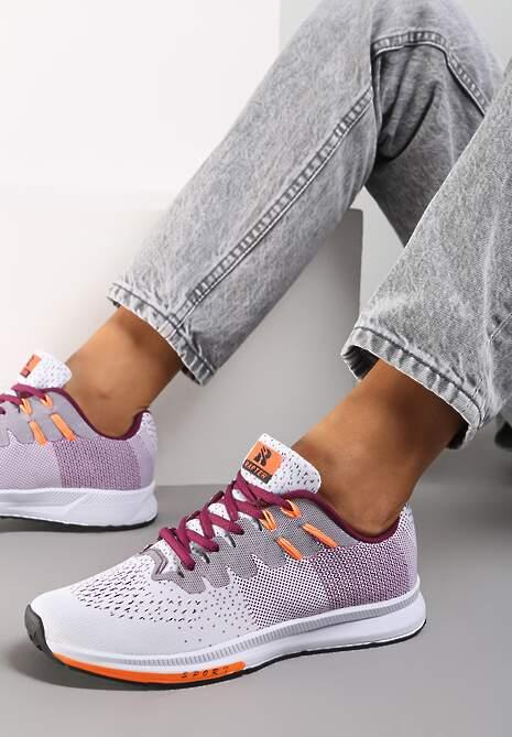 Biało-Fioletowe Buty Sportowe Hypnotized