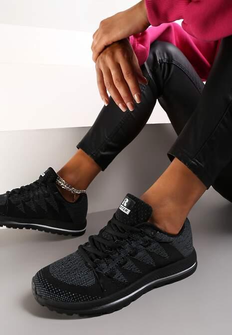 Czarne Buty Sportowe Delorenna