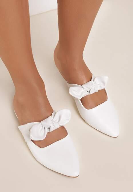 Białe Klapki Elegant Zinnia