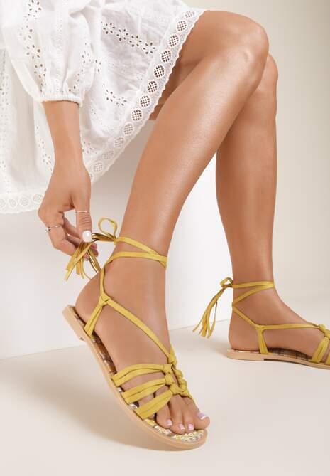 Żółte Sandały Petite Fleur