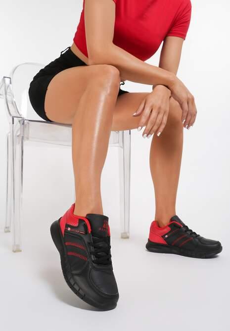 Czarno Czerwone Buty Sportowe After Midnight Renee Buty sportowe damskie w Renee