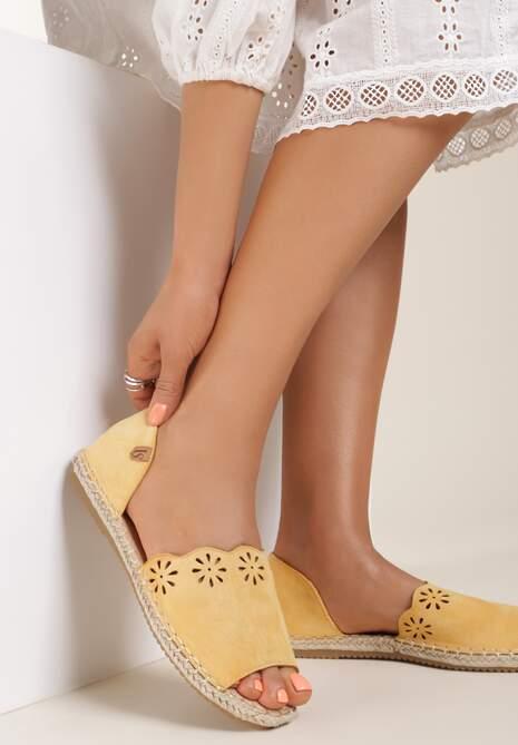 Żółte Espadryle Pining
