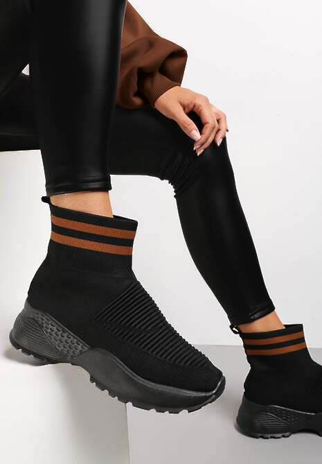 Czarno-Brązowe Sneakersy Lavras
