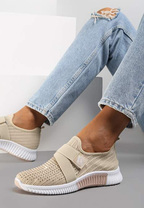 Beżowe Buty Sportowe Deercall
